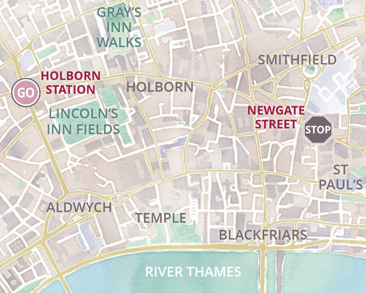 My London Walks - Holborn area map