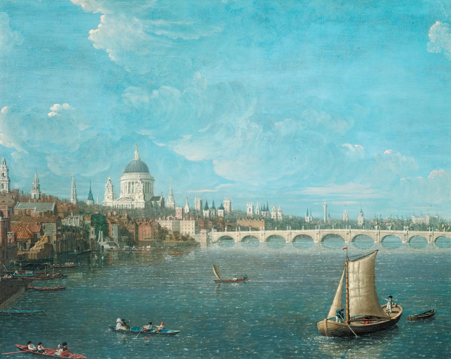My London Walks: View of St Paul's from the Thames, Daniel Turner, c.1790, Photo © Tate (CC BY-NC-ND 3.0)